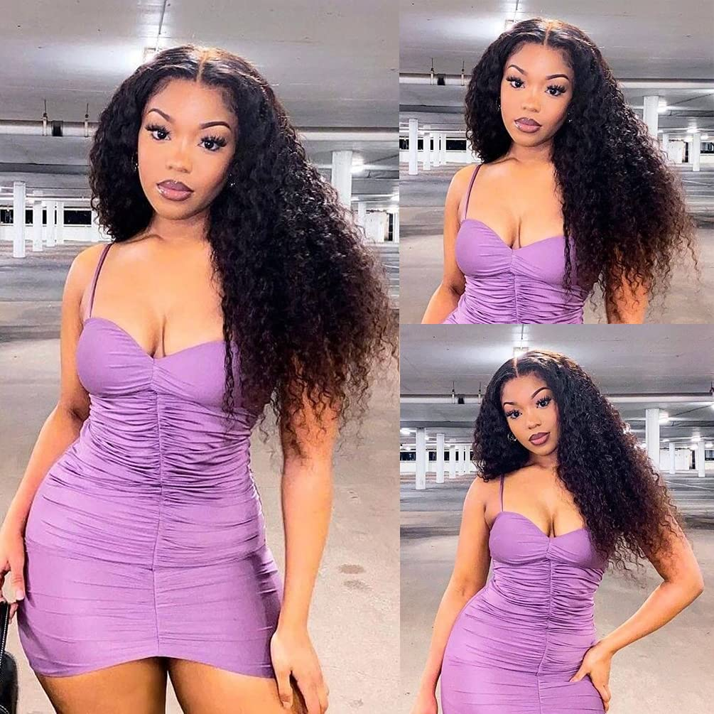 Large-scale sale Lace Front Human Hair Wigs for Black D 2021 spring and summer new Part Women Middle Shape T