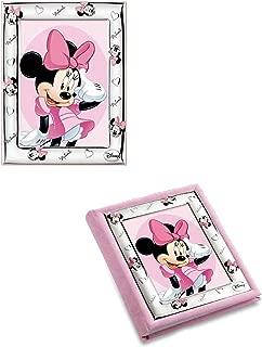 Album de Plata bilaminada en t/écnica de 3D con marco incorporado de Minnie