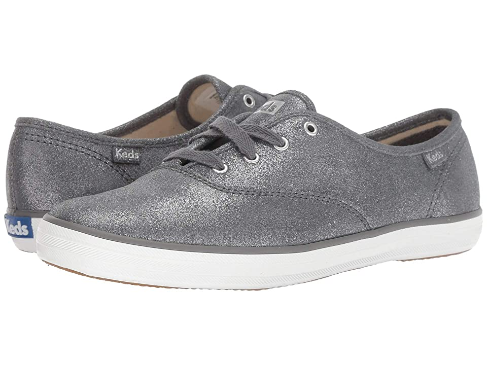 91b2ae4360411 Keds Champion Glitter Suede (Dark Gray) Women s Lace up casual Shoes