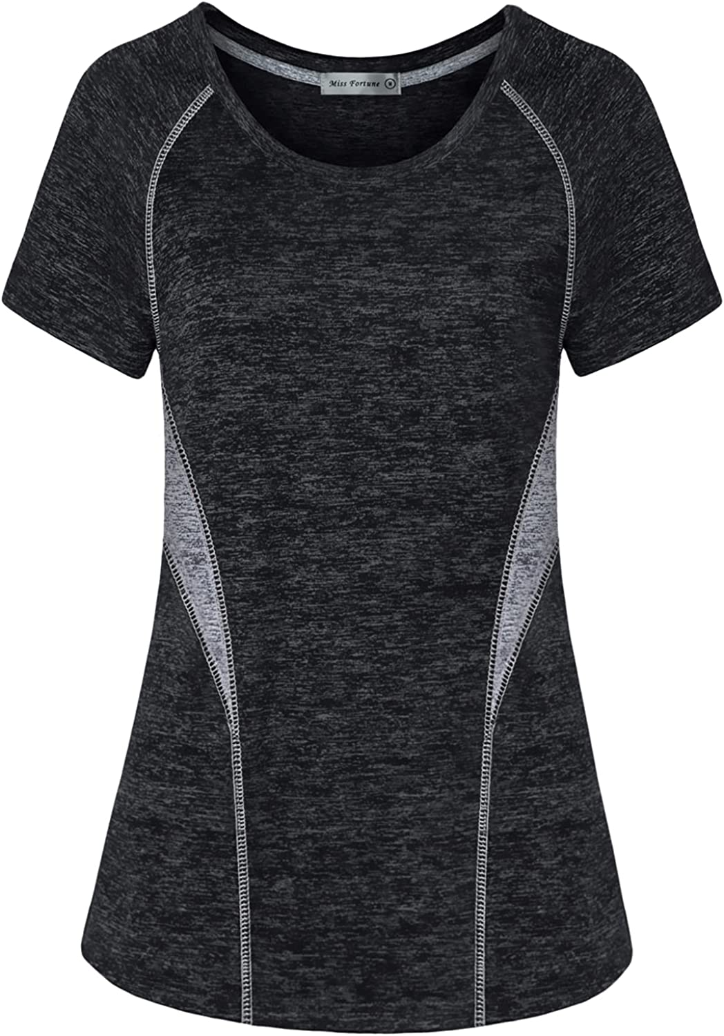 MISS Genuine FORTUNE Womens Active Wear Top Yoga Exercise Cash special price Workout Shirt