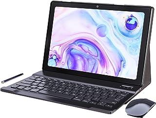 Tablet 10 Zoll Android 10.0-YUMKEM Tablets WiFi, 4 GB RAM, 64 GB ROM, 1,8 GHz, Android Tablet mit Tastatur und Maus, unterstützt GPS Bluetooth 4.2, L211, Grau