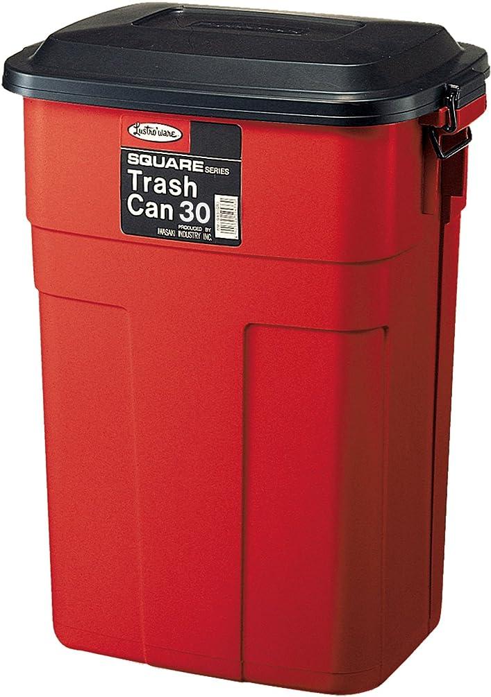 あえて持続するスリップ岩崎 ゴミ箱 スクエア トラッシュカン 30L レッド L-941 R