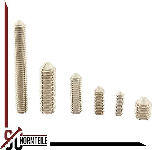 - Madenschrauben Gewindestifte mit Innensechskant und Spitze ISO 4027 - SC914 200 St/ück - aus rostfreiem Edelstahl A2 V2A DIN 914 SC-Normteile M5x14 -