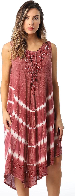 Riviera Sun Acid Wash Tie Dye Beach Cover Detroit Mall Up Summer shopping Dress