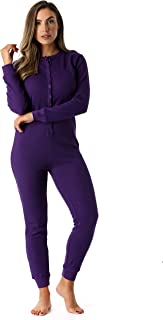 #followme Women's Thermal Henley Onesie Union Suit