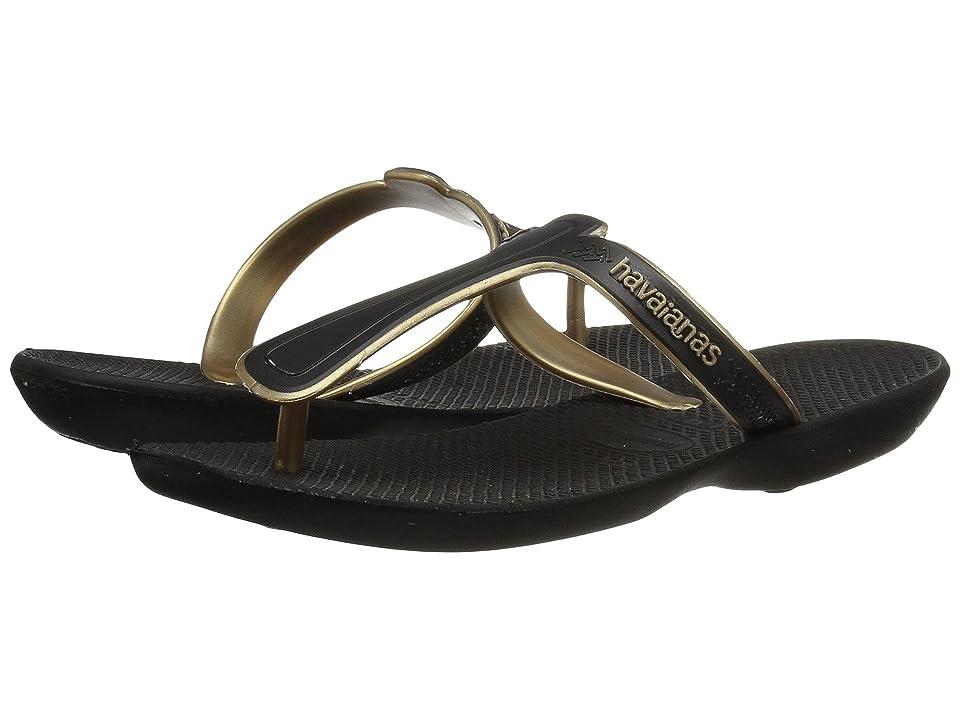 Havaianas Casual Flip-Flops (Black) Women