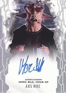 2017 Topps Star Wars Masterwork Autograph Insert Card #MAA-MS Marc Silk, Voice of Aks Moe Auto
