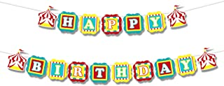 Happy Birthday Banner Circus Party Decorations 1st Birthday Party Decorations Circus Party Supplies Circus Birthday 1st Birthday Banner Carnival Birthday Elephant Birthday Decorations