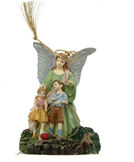 c1998 Bradford Editions Safe at Play Someone to Watch Over Me guardian angel ornament - F445