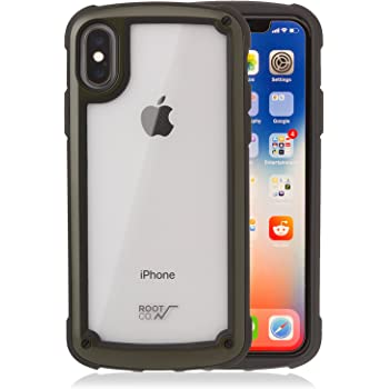 【ROOT CO.】iPhoneX iPhoneXS 耐衝撃 ケース Gravity Shock Resist Tough & Basic Case.(カーキ)