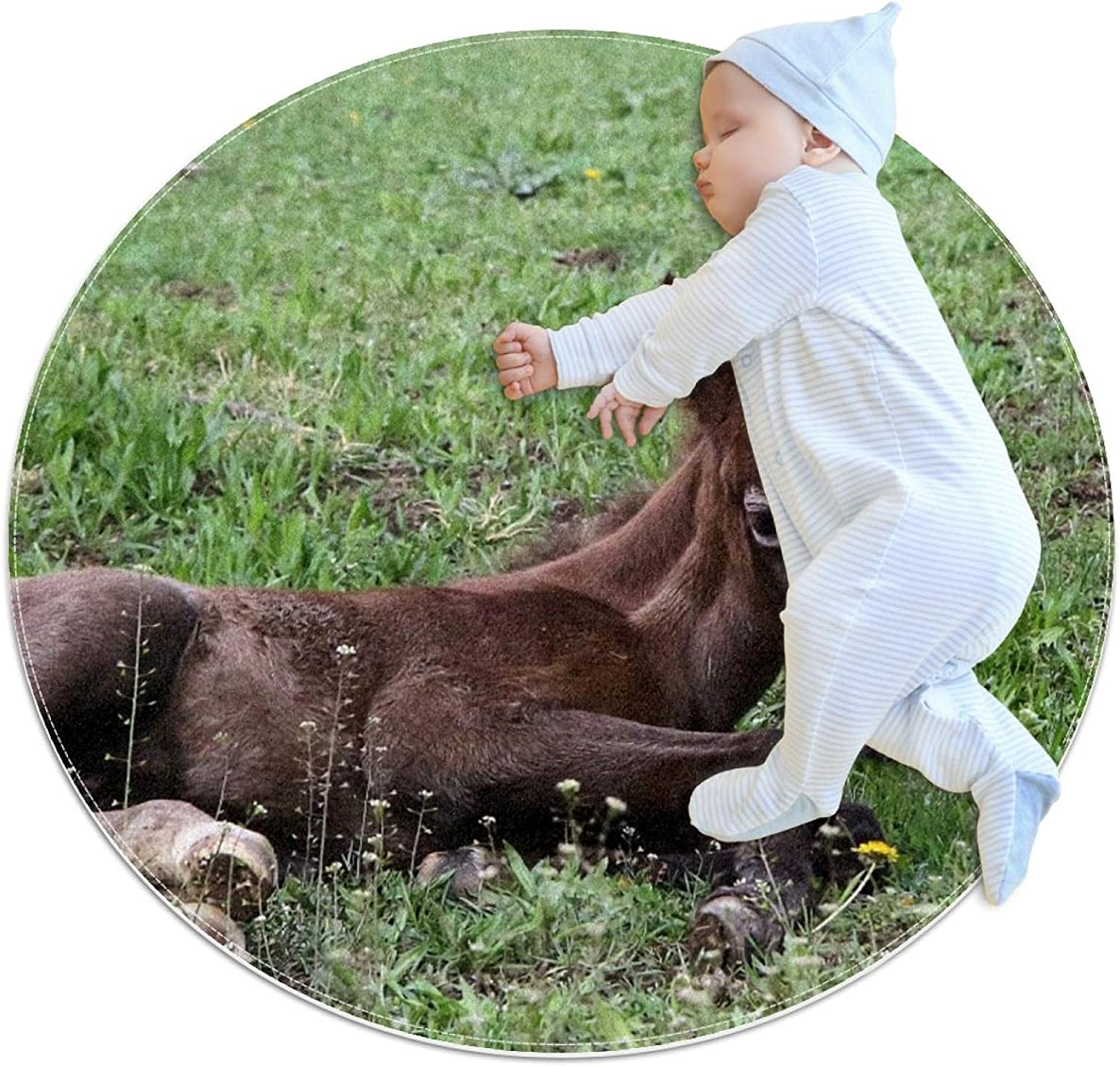Pony 5 popular Animal Kids Polyester Play Crawling Soft Directly managed store Detachabl Mat