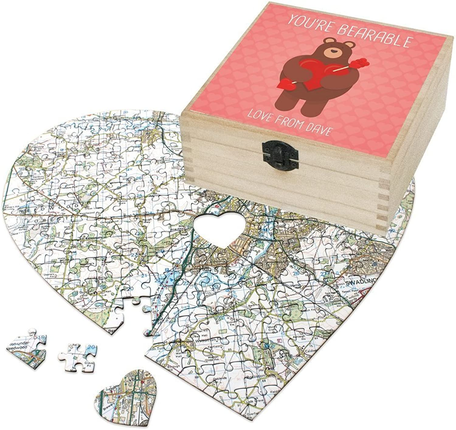 Personalised Valentine's Day Gift Set - You're Bearable