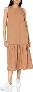 The Drop Women's Ilana Loose Sleeveless Wide-Hem Poplin Maxi Dress