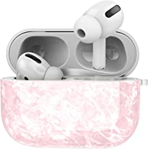 TPU Airpods Pro Case Protector, Anti-shock Protector with portable hook for Iphone Air pods headphones (Pink Pattern)