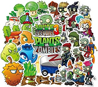 Meet Holiday Plants vs. Zombies Stickers 100 PCS Cute Cartoon Game Comics Vinyl Waterproof Stickers Kids Room Decor Sticker (Plants vs. Zombies)