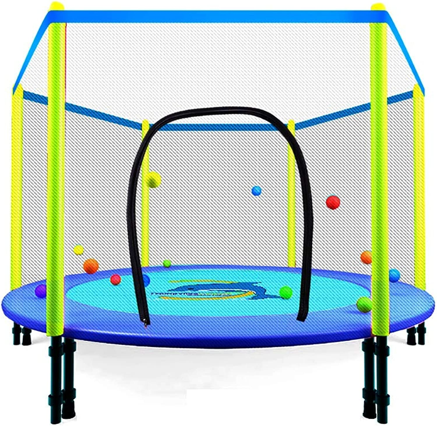 ZCJB 48'' Trampoline Combo Bounce Jump Outdoor Trampoline for Family School Entertainment W Safety Enclosure Net