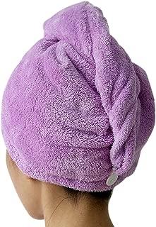 Evelin LEE Microfiber Super Absorbent Dry Hair Cap Shower Hat for Bath Spa Towel (Purple)