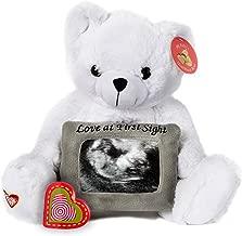 My Baby's Heartbeat Bear - White Teddy Bear w/Ultra Sound Picuture Frame Stuffed Animal w/ 20 sec Voice Recorder Heart Sounds Bear - White Love Bear