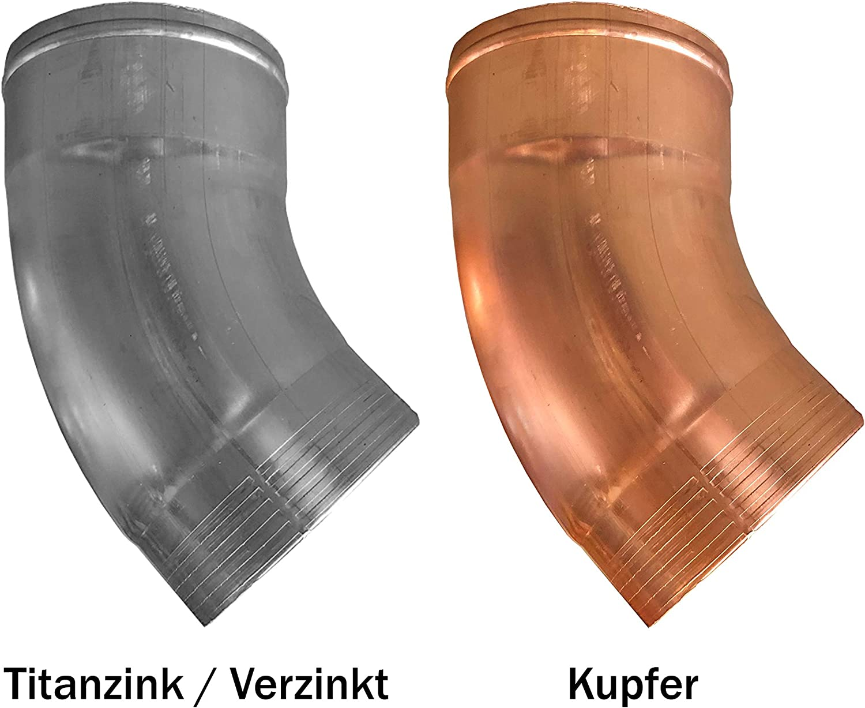 87 und 100 mm Regenrohrklappe Kupfer in den Gr/ö/ßen 60 76 76 mm 80