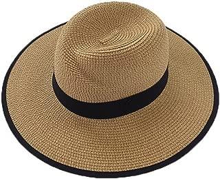 Straw Hat Beach Hat Round Cap Summer Shade Sunscreen Pure Pattern Cap Women, D