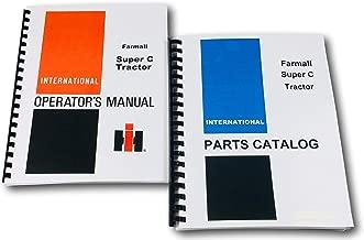 Ih Farmall Super C Operators Manual & Parts Book TC-44B Combo