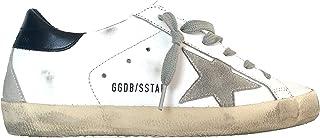 Golden Goose Scarpe Donna Sneaker Superstar Vintage G35WS590.A7 Bianco Blu