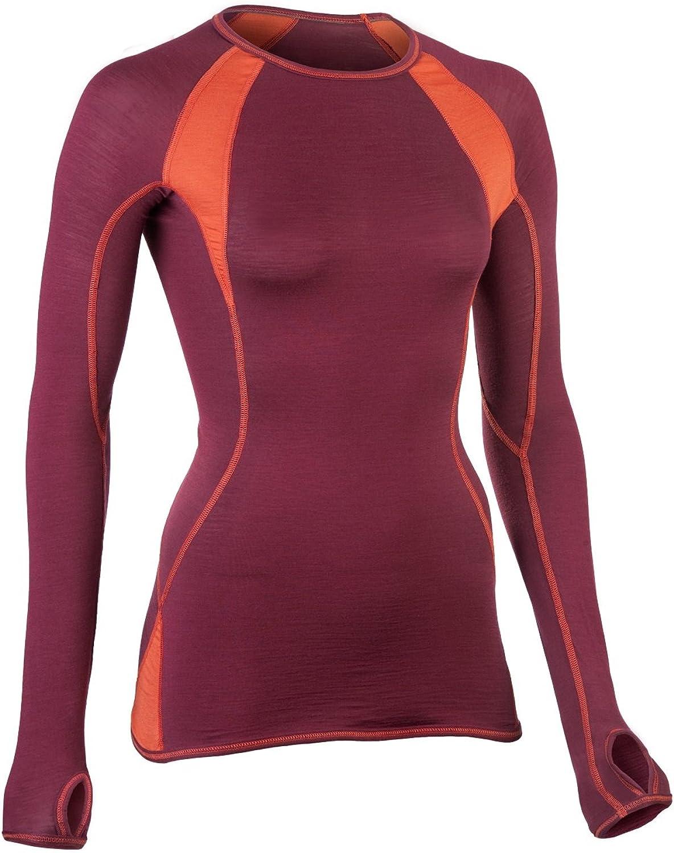 ENGEL SPORTS Bio Funktionskleidung Damen Langarm Shirt aus Bio Merinowolle und Seide mit Elasthananteil