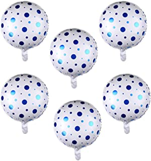 Blue Point Party Foil Balloon for Happy Birthday Balloons for Men Women Kids Decoration(10 pcs)