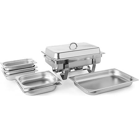 Hendi 471050 Chafing Dish Set, INOX, Silver, 58,5x38,5x31,5 cm
