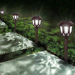 Solar Lights Outdoor Decorative,10 Packs Solar Pathway Lights,Powered Landscape Lighting,Waterproof Solar Powered Garden Y...
