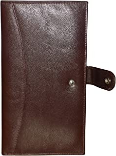 Style98 Leather Brown Passport Wallet for Men and Women