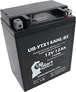 UB-YTX14AHL-BS Battery Replacement for Norton Commando, Commando (75) 850 CC Motorcycle - Factory Activated, Maintenance F...