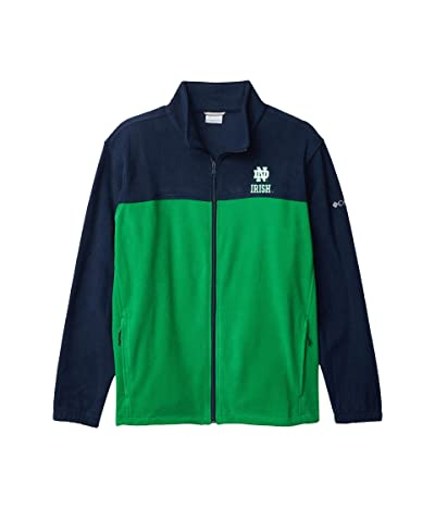 Columbia College Notre Dame Fighting Irish Flankertm III Fleece Jacket (Collegiate Navy/Fuse Green) Men