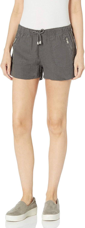 [BLANKNYC] Womens Cargo Linen Elastic Waistband Shorts