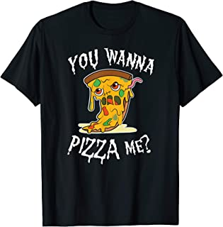 Pizza Zombie You wanna pizza me Pun Halloween food Costume T-Shirt