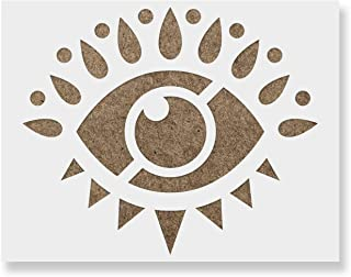 Ramybe Evil Eye Stencil - Reusable Stencils for Painting - Create DIY Ramybe Evil Eye Home Decor