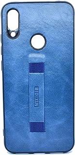 غطاء حماية خلفي جلدية مع مسكة لهاتف شاومي ريدمي نوت 7 - ازرق