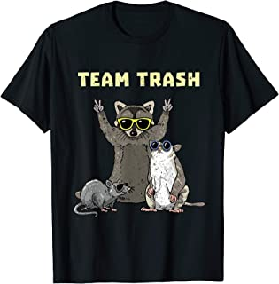 Team Trash Opossum Raccoon Rat, Funny Animals Garbage Gang T-Shirt