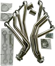 MILLION PARTS Stainless Steel Exhaust Header Kit 1.25 Inch Inlet 3 Inch Outlet fit for 1969-1977 Chevrolet & GMC V8 Engine