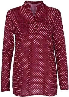 19a8b8b44a73c VJGOAL Femmes en Mousseline De Soie Top Mode Casual Floral Imprimé Bouton  T-Shirt en
