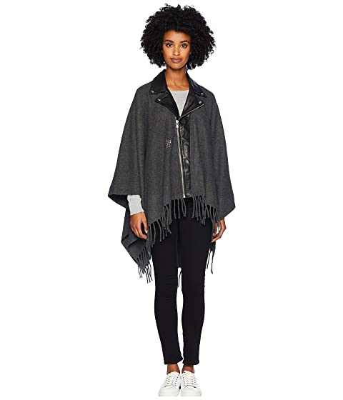 The Kooples Leather Poncho with Studs