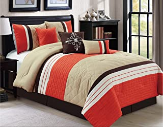 orange and brown bedding