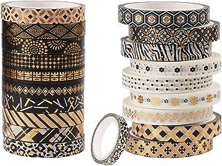Ruban adhésif Washi - Coloré - Accessoire de journal - Masking Craft tapes pour bricolage - Emballage cadeau - Décoration ...