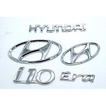 Pinzu Car Monogram Logo Badge Emblem For Hyundai I10 Era Set Of 5pcs Amazon In Car Motorbike