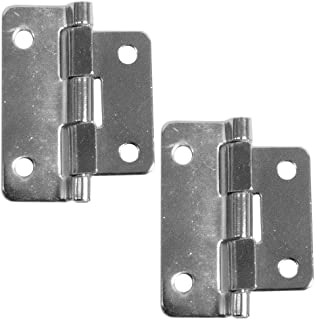 Seismic Audio SAHW3-2Pack 2 Chrome Lift Off Hinges for Pro Audio Gear and Applications