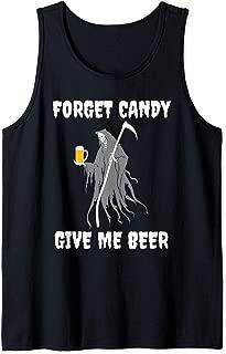 Halloween Grim Reaper Beer Designs Tank Top