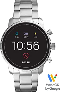 Fossil Men&#39s Gen 4 Explorist HR Stainless Steel Touchscreen Smartwatch