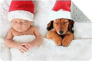 Doormat Custom Indoor Welcome Door Mat, Christmas Baby and Dog Sleeping Home Decorative Entry Rug Garden/Kitchen/Bedroom M...