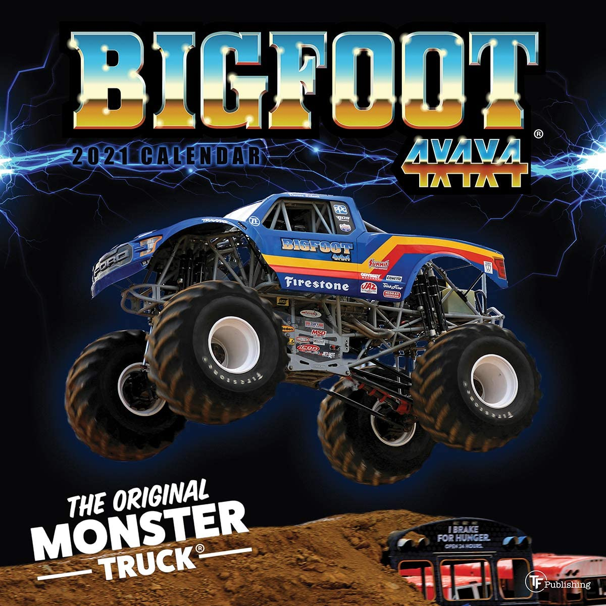 TF PUBLISHING 2021 BIGFOOT® The Original Monster Truck Wall Calendar - Appointment Tracker with Contacts/Notes Home/Office Planning- Gloss 12