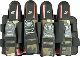 Social Paintball Grit Pack Harness, Woodland Camo, 4+7 Pod Holders